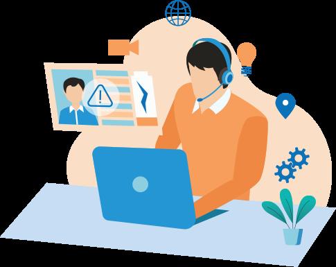 System status using employee monitoring software
