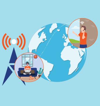 telecom brand with remote work